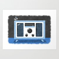 Radio Retro Art Print