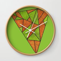 Orange loves green Wall Clock