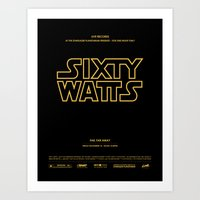 Sixty Watts C  - (far, far away) Art Print