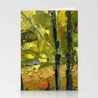 Backlit Aspens Stationery Cards