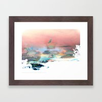 Clouds Like Splattered W… Framed Art Print