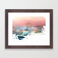 Clouds like Splattered Watercolor Framed Art Print