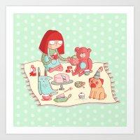 Tea Party! Art Print