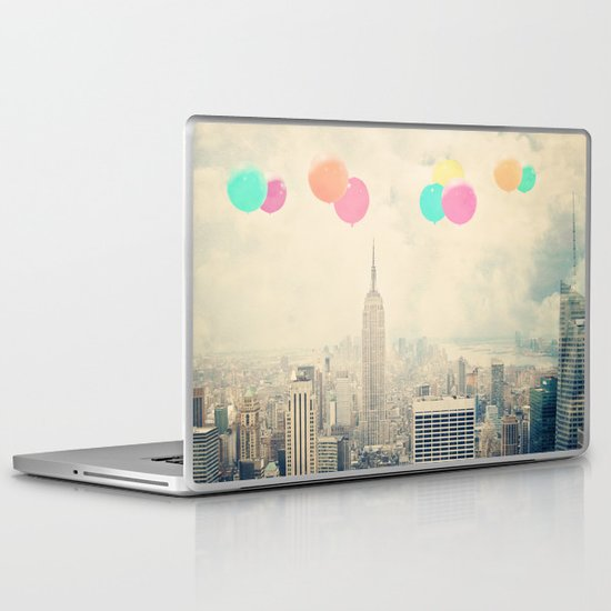 Balloons over the City Laptop & iPad Skin