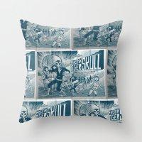 ELECTRIC TIGER SKULL! Throw Pillow