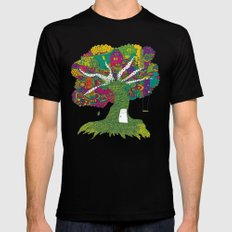 Tree Black Mens Fitted Tee SMALL