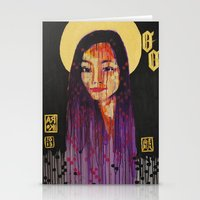Stationery Card featuring OO by RAIKO IVAN雷虎