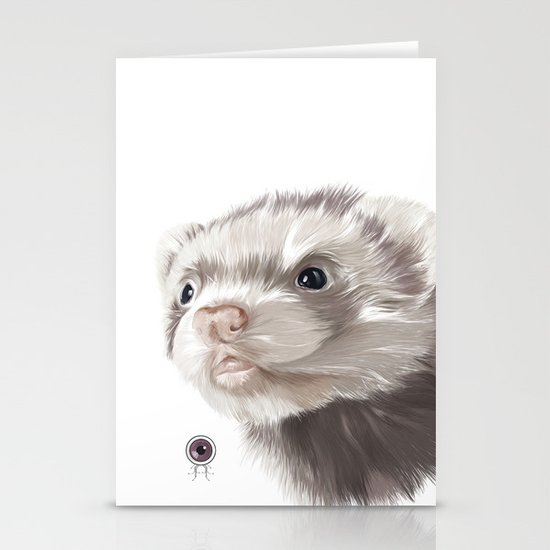 Ferret Stationery Card
