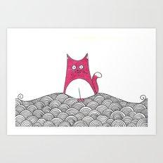 Tabs Cat Art Print