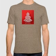 Happy Holidays - Christm… Mens Fitted Tee Tri-Coffee SMALL