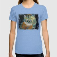 Himalayan Cat Womens Fitted Tee Tri-Blue SMALL