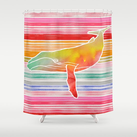 Whale Collage by Garima and Jacqueline Shower Curtain