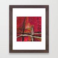 Red Beyond Framed Art Print