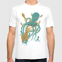 Battle of the Cephalopods Mens Fitted Tee White SMALL