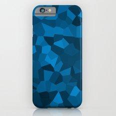 Blue Pixelated Geometric Pattern iPhone 6 Slim Case