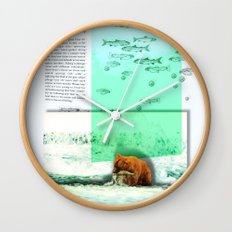 Alaskan Brown Bear Wall Clock