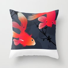 Like a fish in the sea Throw Pillow