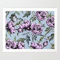 Summer Rose Garden Art Print