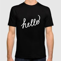 hello! Mens Fitted Tee Black SMALL