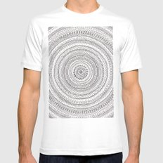 lines lines lines.. Mens Fitted Tee SMALL White