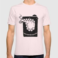 Zombie Hoodlum Mens Fitted Tee Light Pink SMALL
