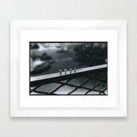 Push Pins Framed Art Print