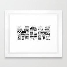 MOM Framed Art Print