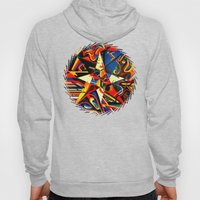 Intermixing Color Star  Hoody