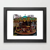 Merry Go Round Paree Framed Art Print