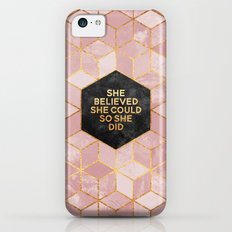 She believed she could so she did iPhone 5c Slim Case