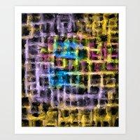 Colour Maze Art Print