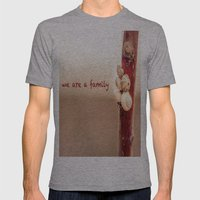 We Are a Family Mens Fitted Tee Athletic Grey SMALL