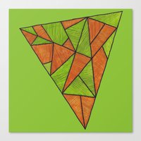 Orange Loves Green Canvas Print
