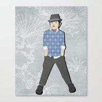 Boys Formal Wear Blue Ar… Canvas Print