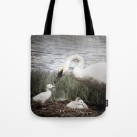 Tom Feiler Swan and her Cygnets Tote Bag