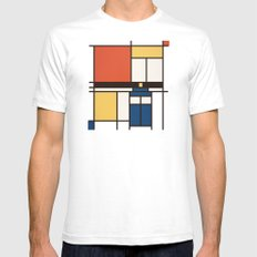 Mondrian Who Mens Fitted Tee SMALL White