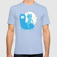 Alpaca Rider Mens Fitted Tee Tri-Blue SMALL