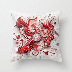 Red-Wild  Throw Pillow