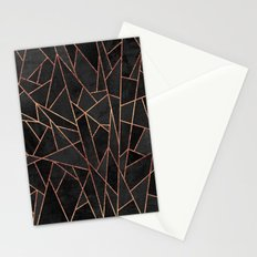 Shattered Black / 2 Stationery Cards