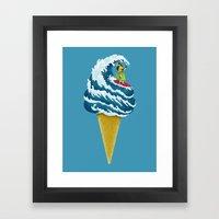 Perfect Wave Framed Art Print
