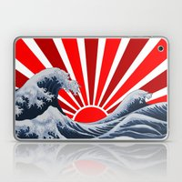 Great Wave Of The Rising… Laptop & iPad Skin