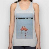 A Flamboyance of Flamingos Unisex Tank Top