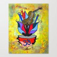 BLOOMING YOGA Canvas Print
