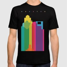 Shapes of Houston. Accurate to scale Black Mens Fitted Tee SMALL