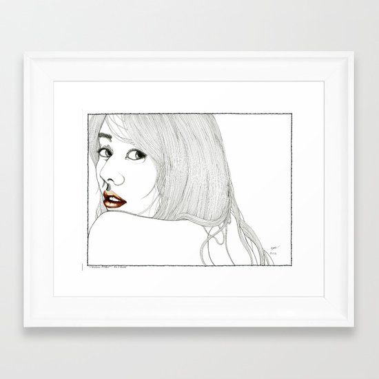 Curiously distant Framed Art Print