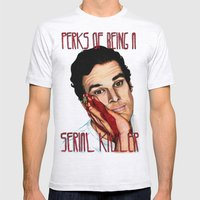 Perks Of Being A Serial … Mens Fitted Tee Ash Grey SMALL