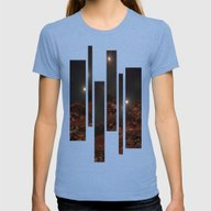 Last Night Of The Triple… Womens Fitted Tee Tri-Blue SMALL