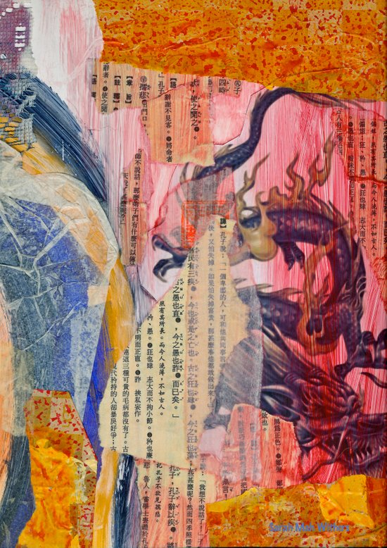 Collage Love - Zhong Long Art Print