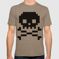 Skullkid Mens Fitted Tee Tri-Coffee SMALL