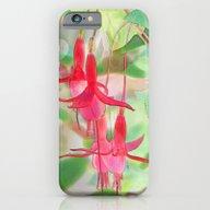 Watercolor Fuchsias iPhone 6 Slim Case